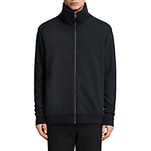Buy AllSaints Fordala Funnel Neck Full-Zip Sweatshirt, Cinder Marl Online at johnlewis.com
