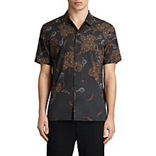 Buy AllSaints Kauai Short Sleeve Shirt, Jet Black Online at johnlewis.com