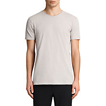 Buy AllSaints Figure Crew Neck T-Shirt, Almond Grey Online at johnlewis.com