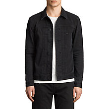 Buy AllSaints Baroda Slim Fit Denim Jacket, Jet Black Online at johnlewis.com
