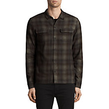 Buy AllSaints Redbluff Slim Fit Check Shirt, Oxblood Red/Multi Online at johnlewis.com