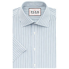 Buy Thomas Pink Lipson Stripe Classic Fit Short Sleeve Shirt, Blue/White Online at johnlewis.com