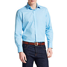 Buy Thomas Pink Horseforth Check XL Sleeve Slim Fit Shirt, Pale Blue/Purple Online at johnlewis.com