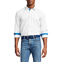 Buy Thomas Pink Evenson Plain Slim Fit Shirt, White/Blue Online at johnlewis.com
