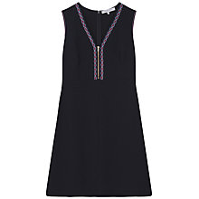 Buy Gerard Darel Embroidered Bliss Dress, Navy Blue Online at johnlewis.com