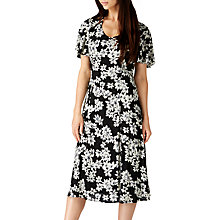 Buy Sugarhill Boutique Rebekka Floral Midi Dress, Black/Cream Online at johnlewis.com