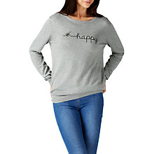 Buy Sugarhill Boutique Bee Happy Embroidered Jumper, Grey Marl Online at johnlewis.com