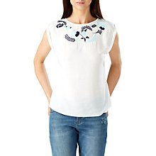 Buy Sugarhill Boutique Jacqui Embroidered Top, Cream/Multi Online at johnlewis.com