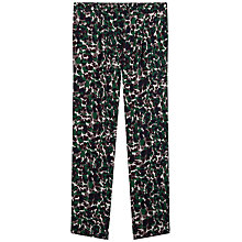 Buy Gerard Darel Padma Camouflage Print Silk Trousers, Dark Green Online at johnlewis.com