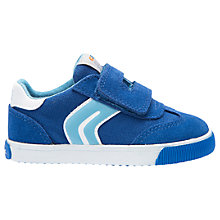 Buy Geox Children's Kiwi Trainers, Royal/Sky Blue Online at johnlewis.com