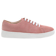 Buy Mint Velvet Lottie Lace Up Trainers, Pink Online at johnlewis.com