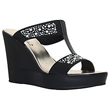 Buy Carvela Comfort Shola Wedge Heeled Platform Sandals, Black Online at johnlewis.com