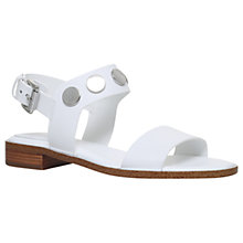 Buy MICHAEL Michael Kors Reggie Studded Block Heeled Sandals, White Online at johnlewis.com