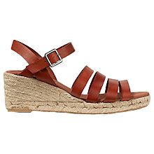 Buy Jigsaw Robyn Wedge Heeled Sandals, Tan Online at johnlewis.com
