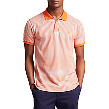 Buy Thomas Pink Morland Stripe Classic Fit Polo Shirt, Orange/White Online at johnlewis.com