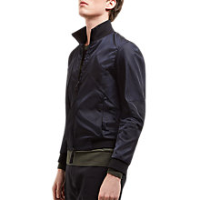 Buy Jaeger Lou Dalton Twill Bomber Jacket, Navy Online at johnlewis.com