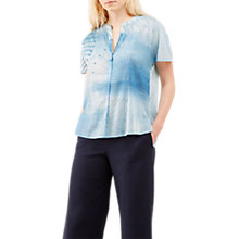 Buy Jigsaw Spirograph Print Blouse, Blue Pearl Online at johnlewis.com