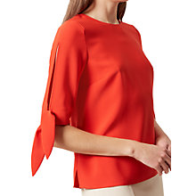 Buy Hobbs Savannah Top, Flame Orange Online at johnlewis.com
