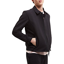 Buy Jaeger Lou Dalton Textured Blouson, Navy Online at johnlewis.com