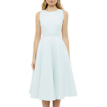 Buy Ted Baker Daisy Jacquard Cut Out Midi Dress, Light Green Online at johnlewis.com