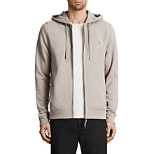 Buy AllSaints Raven Hoodie, Concrete Grey Online at johnlewis.com