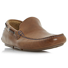 Buy Bertie Sky Driver Leather Loafers, Tan Online at johnlewis.com