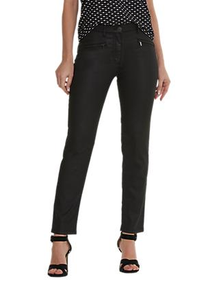 Betty Barclay Perfect Body Waxed Jeans, Black