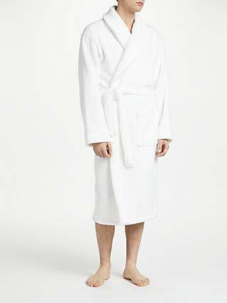 John Lewis & Partners Towelling Cotton Robe, White