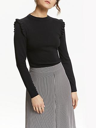 Somerset by Alice Temperley Frill Shoulder Jumper, Black