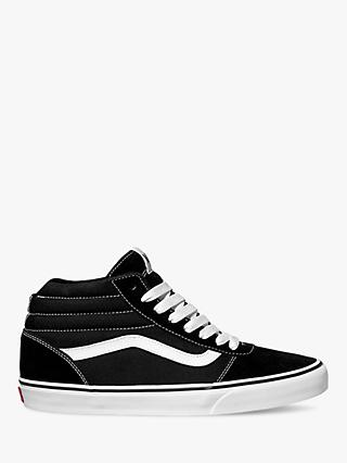 Vans Ward Canvas High Top Trainers, Black