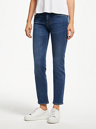 7 For All Mankind Roxanne Mid Rise B(air) Slim Cropped Jeans, Vintage Dusk