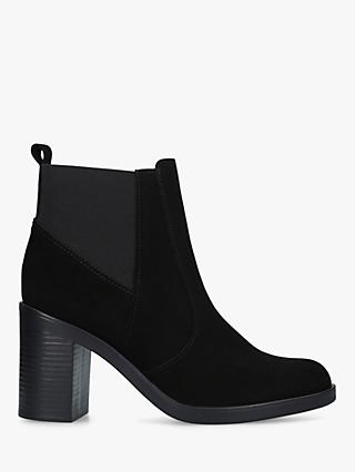 Kurt Geiger London Sicily High Heel Ankle Boots, Black Suede