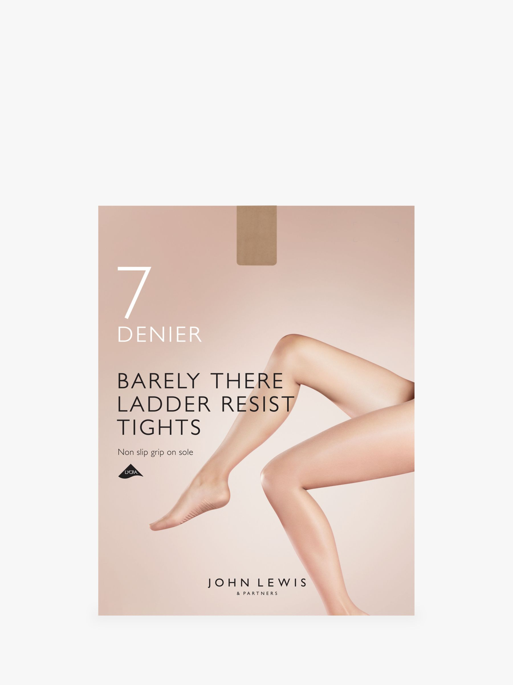 John Lewis Tights Barely There 7 Denier  Size XL N.Black New