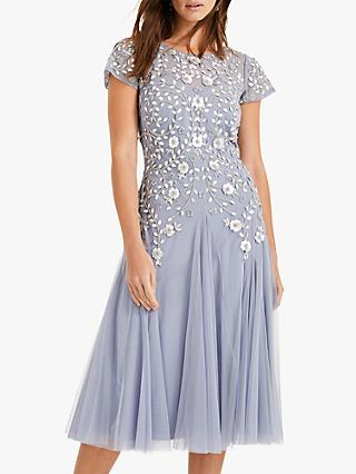 Phase Eight Collection 8 Celia Embellished Tulle Dress, Lavender