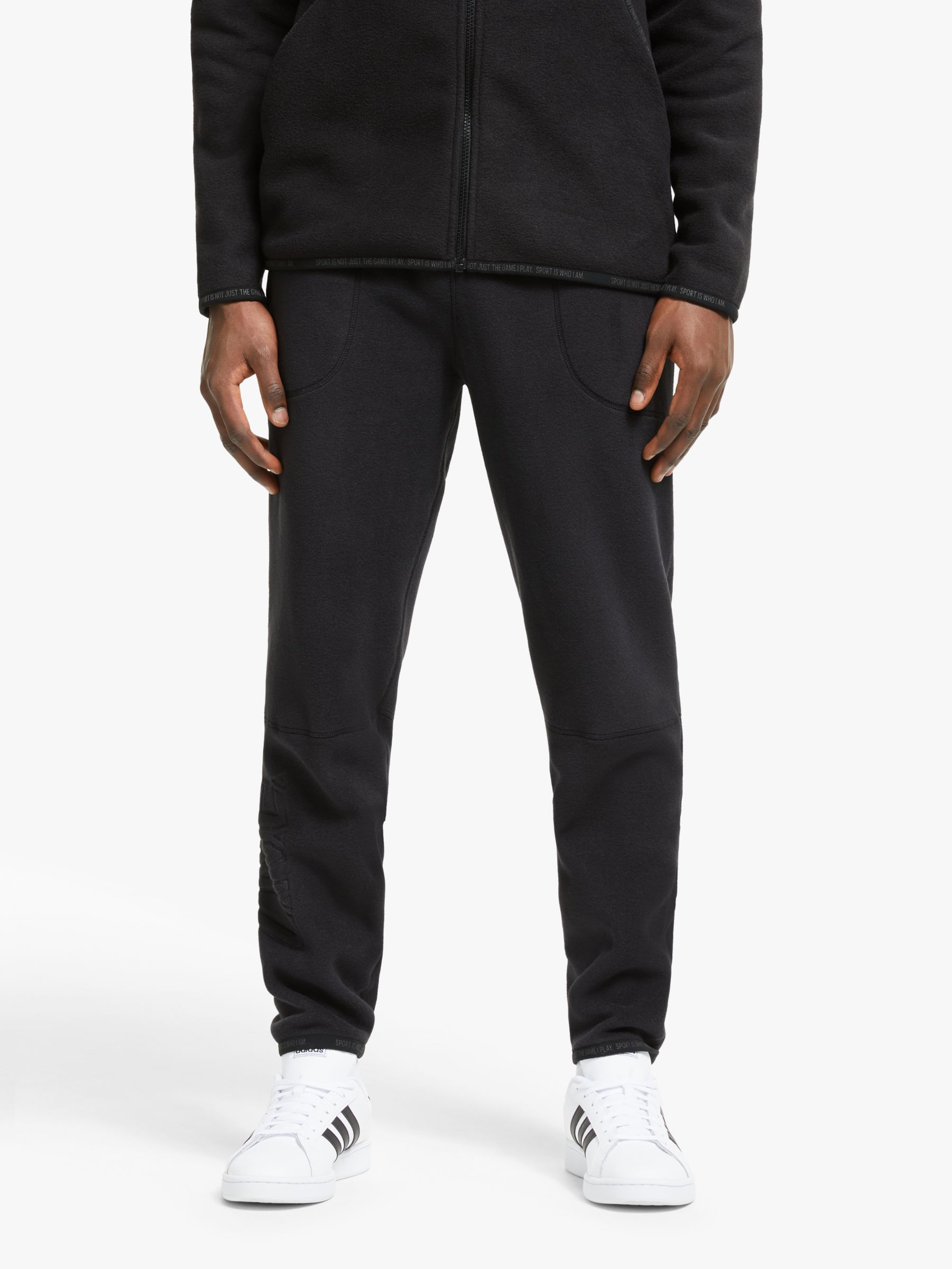 realce lluvia Línea de metal  adidas Z.N.E Tapered Tracksuit Bottoms, Black at John Lewis & Partners