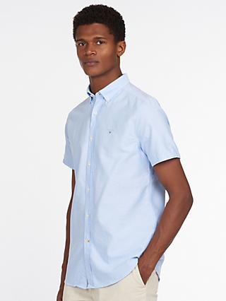 Barbour Short Sleeve Oxford Shirt, Sky