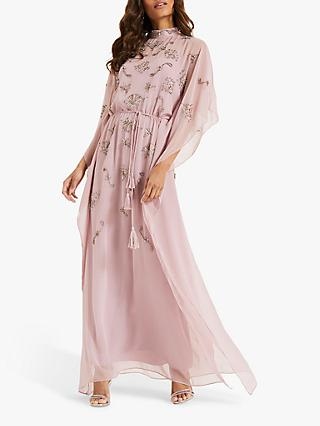 Phase Eight Sairah Beaded Kimono Dress, Deep Pink