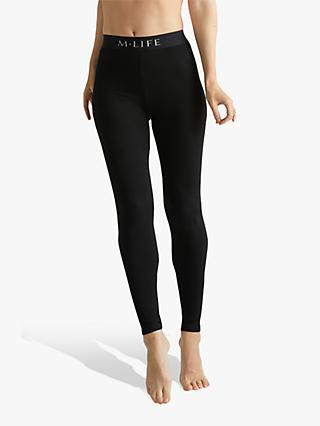 M Life Life Branded Leggings, Black