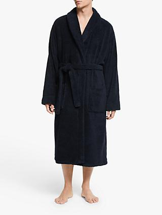 John Lewis & Partners Towelling Robe, Navy