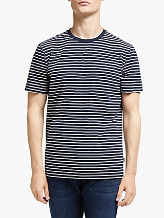 Scotch & Soda Nos Elevated T-Shirt, Navy/White