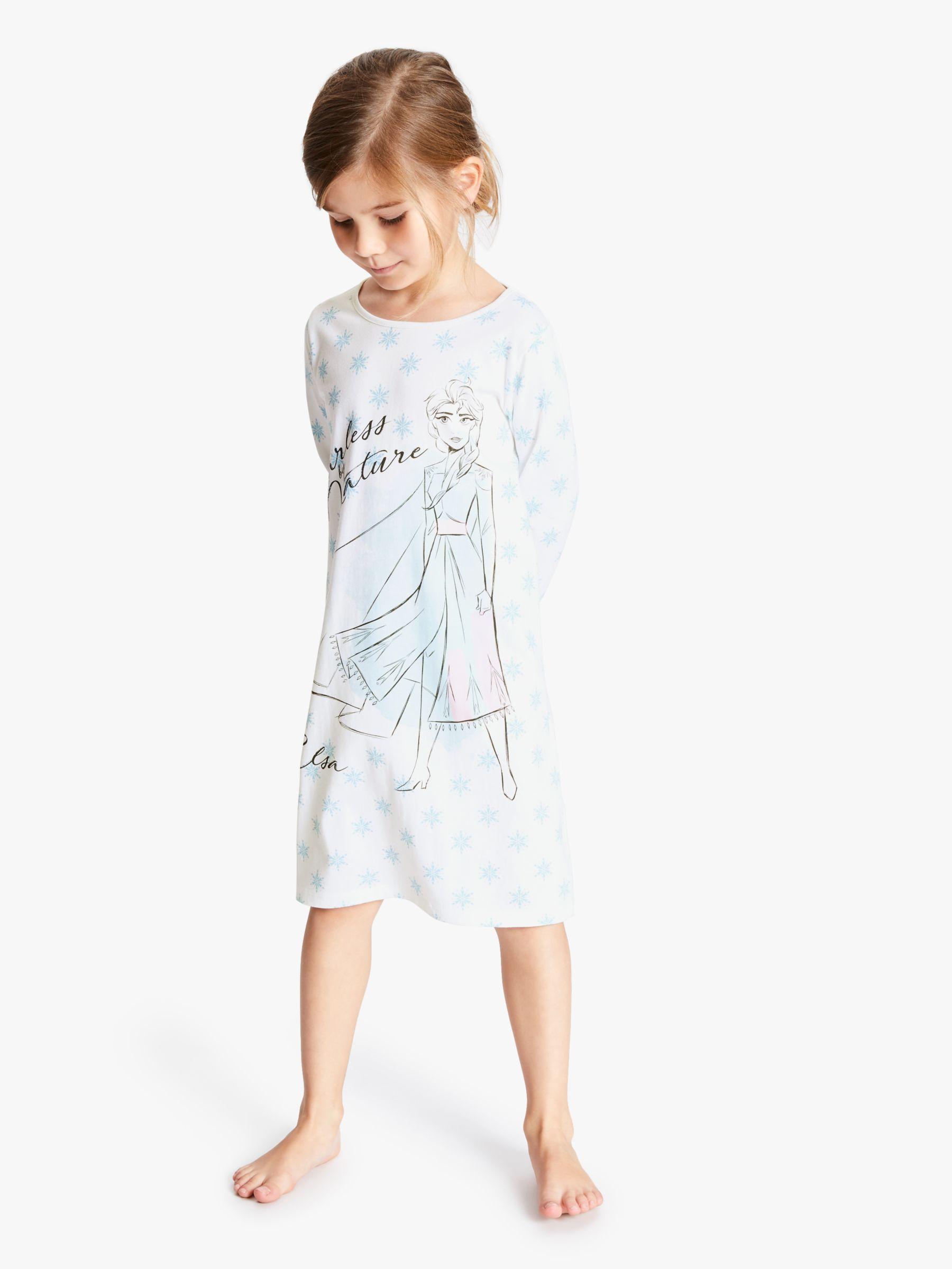 Indepence Life Little Girls Princess Anna and Elsa Long Sleeve Sleepdress Toddler Nightgown Dress