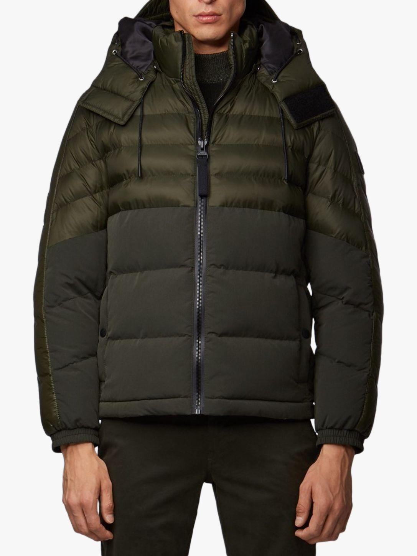 hugo boss green bomber jacket