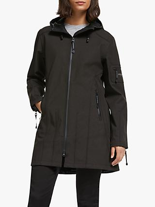 Ilse Jacobsen Hornbæk 3/4 Length Raincoat, Black