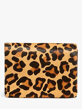Phase Eight Leopard Print Clutch Bag, Multi