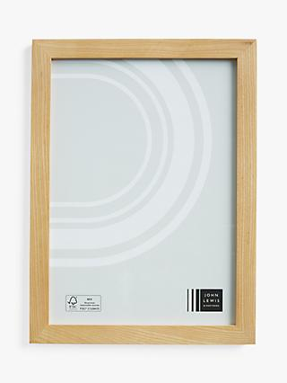 John Lewis & Partners Grove Ash Wood Poster Frame