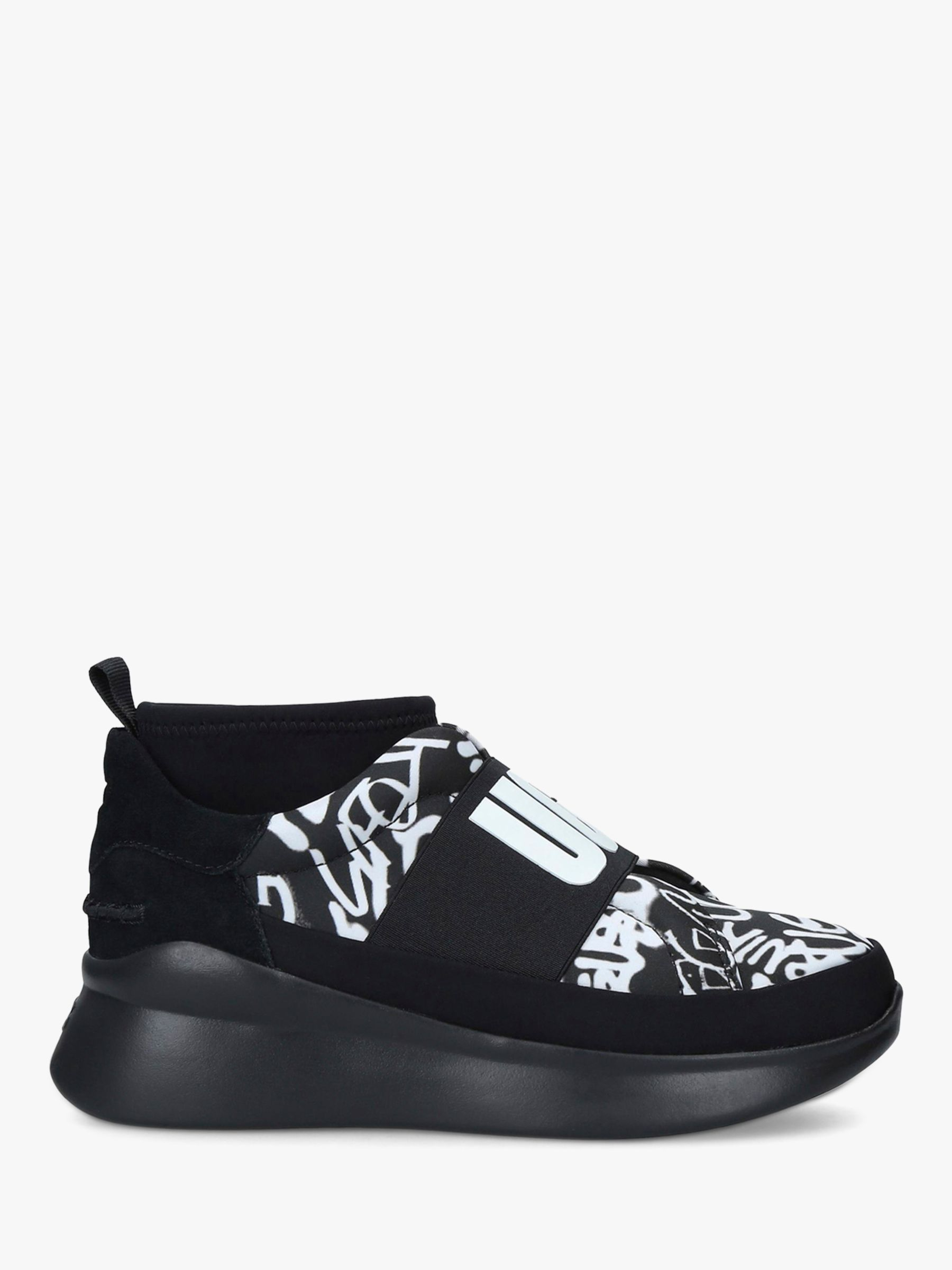 super popular the cheapest huge inventory UGG Neutra Leather Pull On Trainers, Black/Multi at John Lewis ...
