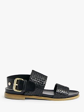 John Lewis & Partners Josaphine Leather Woven Sandals