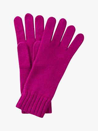 Pure Collection Cashmere Gloves, Bright Magenta