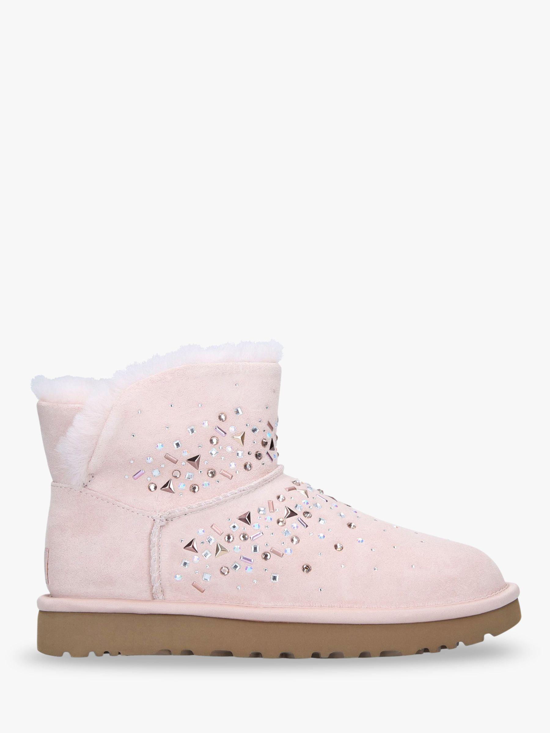 Small Rose//Pink Lambskin Sock Booties