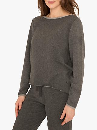 M Life Nirvana Edge Sweat Yoga Top, Flint Melange